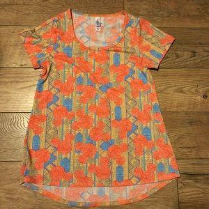 Classic tee orange blue Aztec Xxs shirt stretch